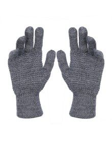 Pure Wool Hand Gloves Tuck Grey