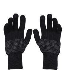 Pure Wool Hand Gloves Designer black