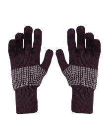 Pure Wool Hand Gloves Designer dark Brown