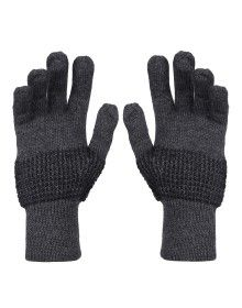 Pure Wool Hand Gloves Designer Dark Grey