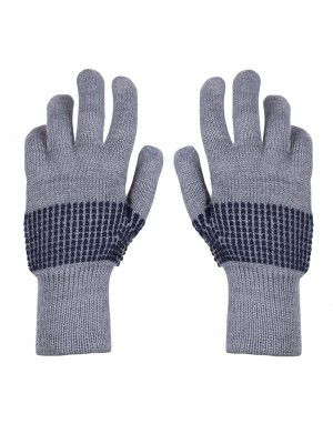 Pure Wool Hand Gloves Designer Grey
