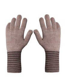 PURE WOOL EXTRA LONG HAND GLOVES DESIGNER BROWN