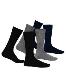 Pure Wool Socks 2PLY Ribbed P3
