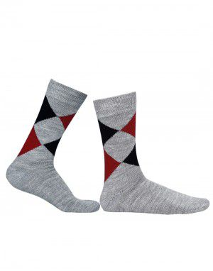 Pure Wool Socks Diamond Grey