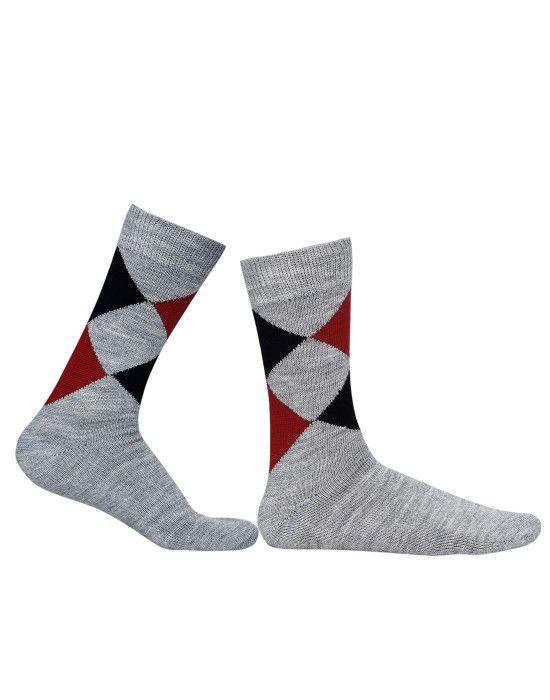 Pure Wool Socks Diamond Grey