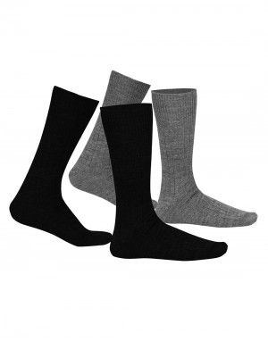 Pure Wool Socks 2PLY Ribbed P2