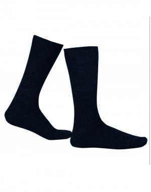 Pure Wool Socks 2PLY Ribbed Navy