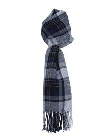 Purewool Muffler Blue White Big Checks