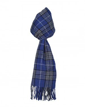 Purewool Muffler Sky Blue Checks  wholesale