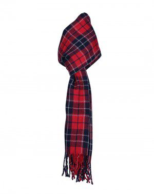 Purewool Muffler Checks Red & Black Wholesale