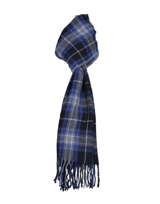 Purewool Muffler Blue checks