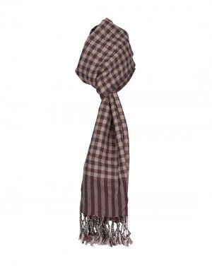 Premium Purewool Muffler Handloom Fine Checks in Wholesale