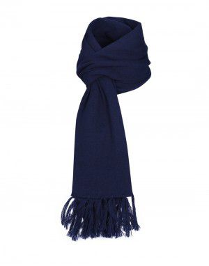 Purewool Plain Muffler Navy in Wholesale
