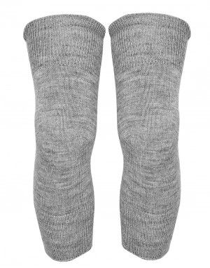 Pure Wool Knee Cap Unisex  Grey