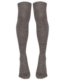 Pure Wool Long Stocking Unisex Brown