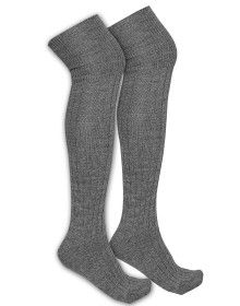 Pure Wool Long Stocking Unisex Grey