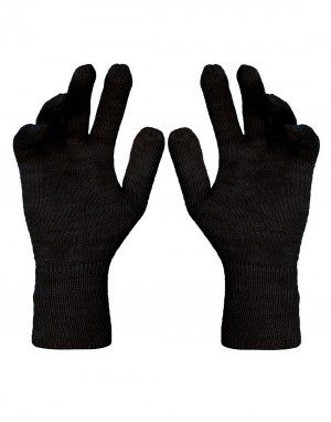 Pure Wool Hand Gloves Plain ladies Dark Grey