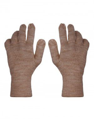 Pure Wool Hand Gloves Plain ladies Grey