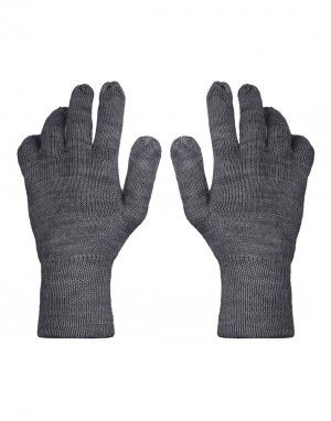Pure Wool Hand Gloves Plain ladies Black