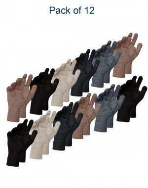 Pure Wool Gloves Plain ladies P12