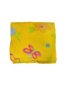 Baby Blanket for Infants printed mustard