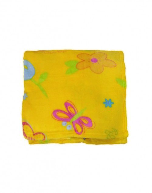 Baby Blanket for Infants printed mustard