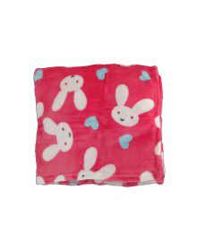 Baby Blanket for Infants printed pink