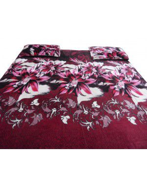 DOUBLE BEDSHEET FLOWER DESIGN WITH 2 PILLOW COVER