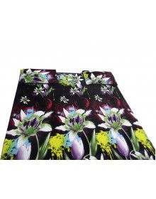 Bedsheet Greenish flower design with 2 pillow Cover