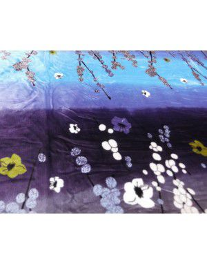 bedsheet blue night flower design with 2 pillow Cover