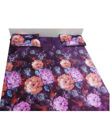 maroon shade designer bedsheet with 2 pillow Cover
