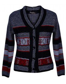 Ladies Acrylic Designer Cardigan Black