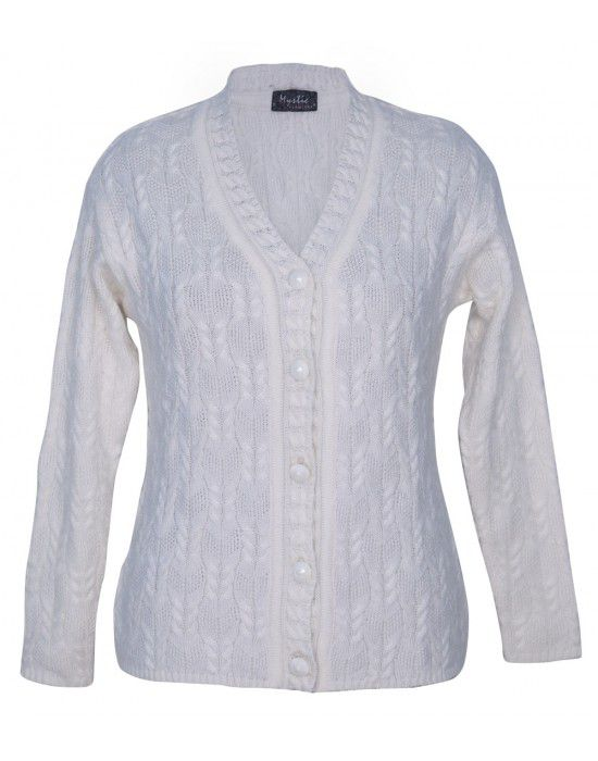 Ladies Cardigan Whiite design