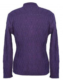Lady Cardigan Pocket FS Purple