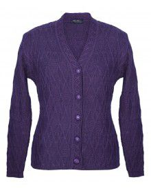 Lady Cardigan Pocket FS Purple