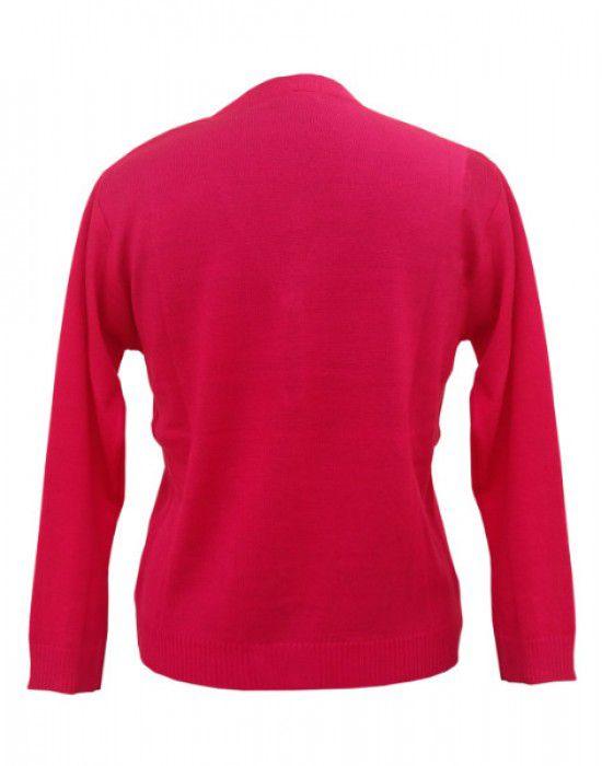 Ladies Cardigan  Plain Pink