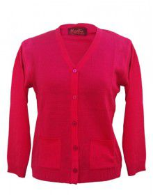 Ladies Cardigan  Plain Pink