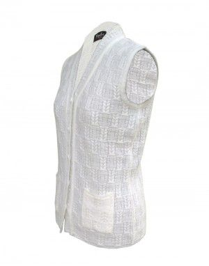 Lady Cardigan Pocket SL White