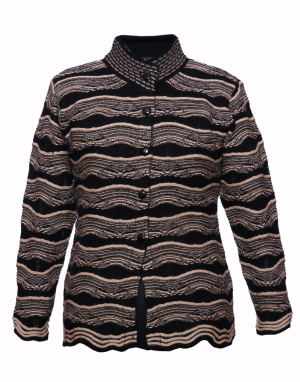 Ladies Designer Cardigan Brown Black