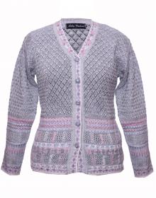 Ladies Designer Cardigan Purple Grey