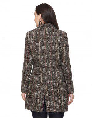 Women Woolen Coat button Camel