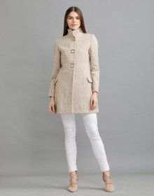 Women Woolen Coat Faun