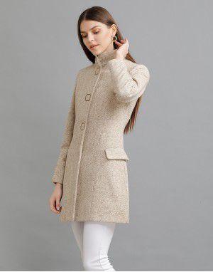Women Woolen Coat Faun