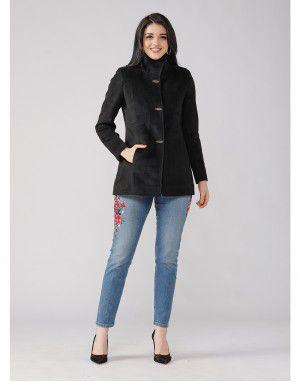 Ladies Coat Black Basic