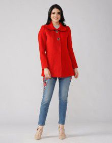 Ladies Coat Tomato