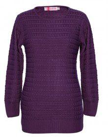 Girls Top Acrylic Wool Designer Round Neck
