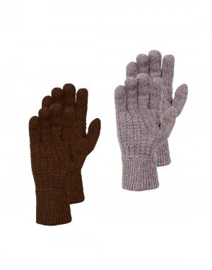 Mens wool blend gloves pack of 2