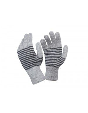 Pure wool Gloves Designer Dark Grey P2