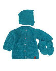 Handmade woolen suit self Blue