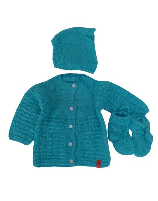 Handmade woolen suit self Blue